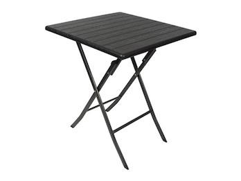 Stabiler und robuster Klapptisch in Holzoptik, quadratischer Tisch 62 x 62cm