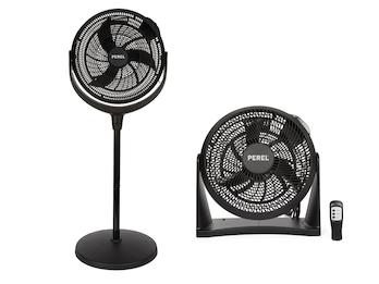 Ventilatoren Set Wandlüfter & Standlüfter in Schwarz - für Schlafzimmer & Büo