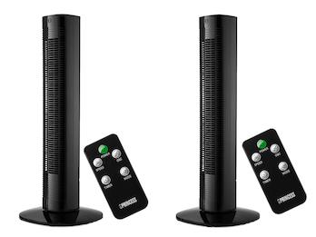 Säulenventilator mit Timer & Fernbedienung im 2er Set, oszillierend, 50 Watt