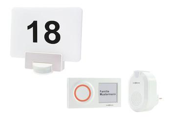 Funk Türklingelset + Hausnummernleuchte RGB mit Bewegungsmelder, Handy App