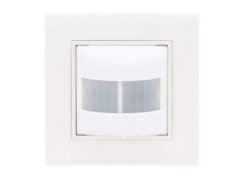 Unterputz Bewegungsmelder 120° mit Rahmen weiß, Bewegungssensor innen