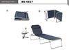 Serie Sonnenliegen in Grau mit Dach - Anthrazit, Navy Blau & Schwarz mit Kissen