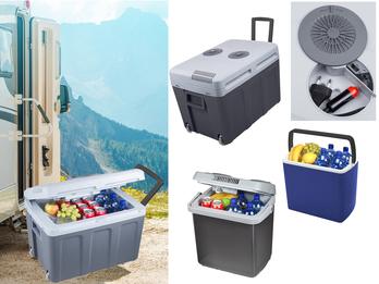 Verschiedene Modelle Hybride + Thermoelektische + Absorber Kühlboxen