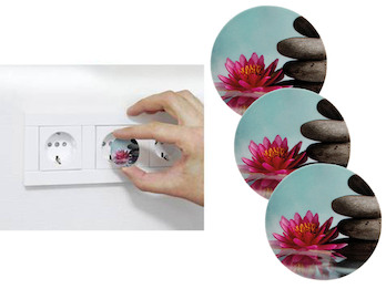 3er Set Steckdosen Schutzabdeckung Motiv Blume