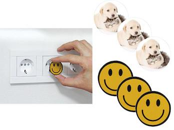 Steckdosen Schutzabdeckungsset Motiv Tiere & Smiley