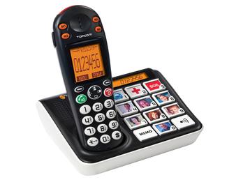 Sologic B935 Bildtasten-Telefon, schnurlos, hörgerätekompatibel, LCD