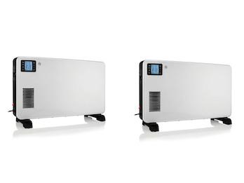 Turbo Boost Elektroheizungen im 2er SET Konvektor LCD mit Fernbedienung & Timer
