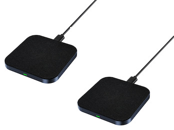 2er Set Wireless Charger, Ladepads für Smartphones - Laden ohne Ladekabel