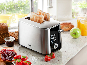 Toaster aus rostfreiem Edelstahl mit 7 Stufen & Schnell-Toast-Technologie