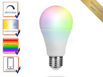 Intelligentes E27 Zusatz LED Leuchtmittel Smarthome PRO - dimmbar & RGB Farben
