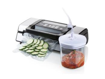 Schneller Vakuumierer, -0,9bar für Lebensmittel & Flüssigkeiten mit Marinadeset
