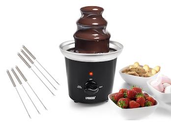 Schokofondue Set mit 6 Spießen Schokomaschine Schokoladenfondue für süße Dessert