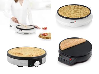Creperie, Pancake Maker Tischgrill mit großer Bratfläche für Crepes und Grillgut