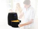 Digitale XXL Heißluftfritteuse 8 Programme frittieren ohne Öl 4,5Ltr 1500 Watt