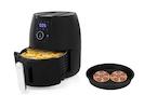 Digitale XXL Heißluftfritteuse & Pizzapfanne frittieren ohne Öl 4,5Ltr 1500Watt