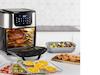 Digitale Heißluftfritteuse Mini Ofen Drehspieß & Rotierkorb Grill 11Liter, 1800W