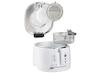 Kleine 2,5 Liter Mini Fritteuse in Weiß 1600 Watt mit Cooltouch Gehäuse