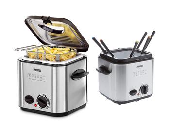 Mini Fritteuse & Fondueset mit 6 Gabeln 2in1 Gerät 840W 1,2 Liter