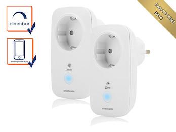 Dimmbare Zusatz Funksteckdosen bis 200 Watt im 2er Pack - Smarthome PRO