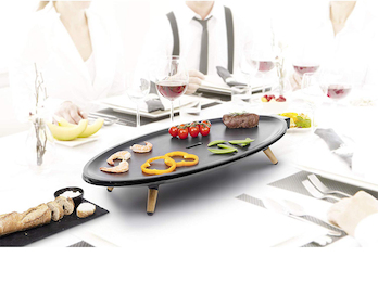 Ovaler XL Teppanyaki Table Chef Elypse Pure 60x30cm Tischgrill für 8 Personen