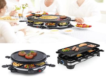 DESIGN Raclettegeräte mit Grillplatte für 4-8 Personen Tischgrill