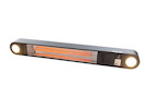 1500 Watt Heizstrahler Outdoor für Wand & Deckenmontage mit LED & Fernbedienung