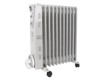 2500 Watt Radiator Heizkörper Öl mit Rollen, Thermostat - 3 Heizstufen