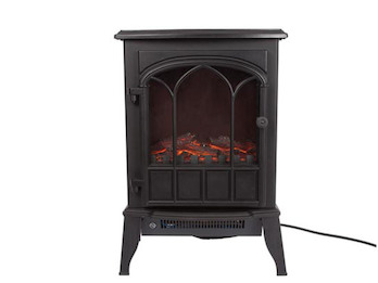Elektrischer Kamin mit Heizfunktion, Thermostat & zuschaltbarem Flammeneffekt