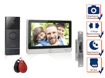 Video Türsprechanlage mit Türöffner für Einfamilienhaus, RFID Zugangssystem