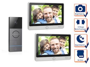 Video Türsprechanlage mit Nachtsichtkamera für Zweifamilienhaus, Touchscreen