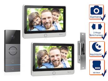 Video Türsprechanlage mit Nachtsichtkamera & Türöffner für Zweifamilienhaus