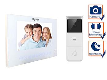 Moderne Einfamilienhaus Video Türsprechanlage mit Kamera &  7