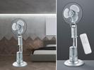 Standventilator oszillierend & Sprühnebel Luftbefeuchtung 3 Stufen Fernbedienung