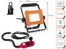 Tragbarer 10Watt LED Baustrahler mit Aufhängung & Verlängerungskabel