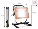 SET: 50 Watt LED Baustrahler & kabellose Werkstatt Handlampe mit Magnet