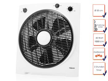 Boxventilator Bodenventilator Tischventilator mit 2 Std. Timer 40 Watt, 1050 U/m