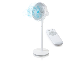 Stand-+ Tischventilator 100/70cm mit Aroma Diffuser, Timer & Fernbedienung