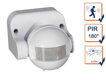 180° PIR Bewegungsmelder Außen für Lampen & Geräte bis max. 1200 Watt