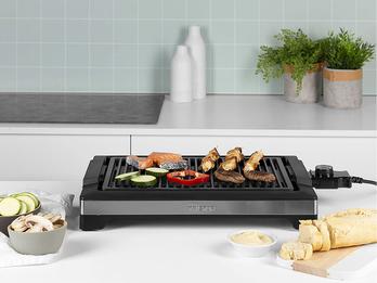 Tristar Grillrost Barbecue-Grill 2000W 37x25cm Schwarz Tischgrill Elektrogrill