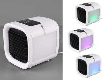 USB Tischventilator Wassertank Raumbefeuchtung RGB Farbwechsler Touch Display