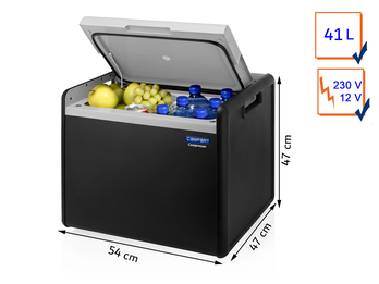 Große 41 Ltr. Hybrid Kühlbox in Anthrazit Kompressor / Thermoelektrisch