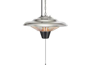 Halogen Terrassen Deckenheizstrahler Silber 1500 Watt 360˚ Wärmeabstrahlung IP34