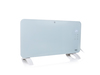 Smartes Flächenheizgerät Glaskörper Konvektor Weiß 76cm breit 1500Watt