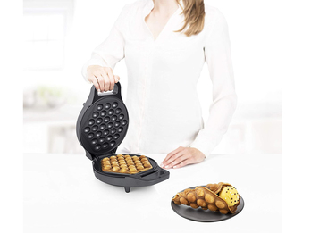 Bubble Waffeleisen drehbar sechseck Eierwaffeln Ø20cm Egg Waffle Maker 700Watt