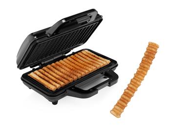 Waffel Pommes Maker für 15 Waffeln Pommes Style Waffeleisen 28,5x15,2cm 1000Watt