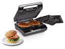 Kontaktgrill, Waffeleisen & Sandwichmaker 3in1 auswechselbare Platten, 23x13cm