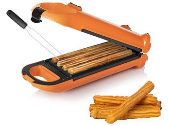 Churros Maker drehbares Waffeleisen für 4 spanische Churrera & Waffelgabel 700W