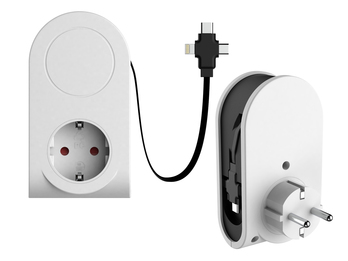 Ausziehbares Micro USB Ladekabel 3in1, Steckdosenadapter Datenkabel alle Marken