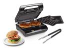 Kontaktgrill Grillzange, Waffeleisen & Sandwichmaker 3in1 Wechselplatten 23x13cm