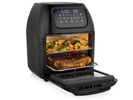 Digitale Heißluftfritteuse Mini Backofen, 2 Grillroste & Pommeskorb, 10L 1800W